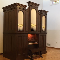Organ by JH & CS Odell, Opus76, 1868, restored and relocated to St Thomas of CanterburyEpiscopal Church, Albuquerque, NM 2019