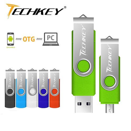 Usb Flash Drive Techkey 8gb 16gb 32gb Pen Drive 64gb 128gb
