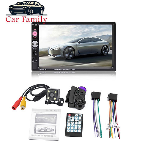 7 Inch Car Radio HD Touch Screen Bluetooth Stereo Audio Dual 2 Din Multimedia