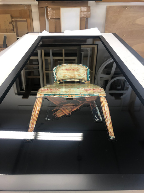 Tragic Chairs by Dianne Blell, Creation Process, 2019