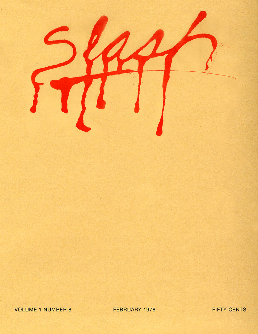 Slash Magazine, Mailer, 1978
