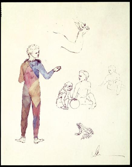 Clown Drawing Study, 1985-89