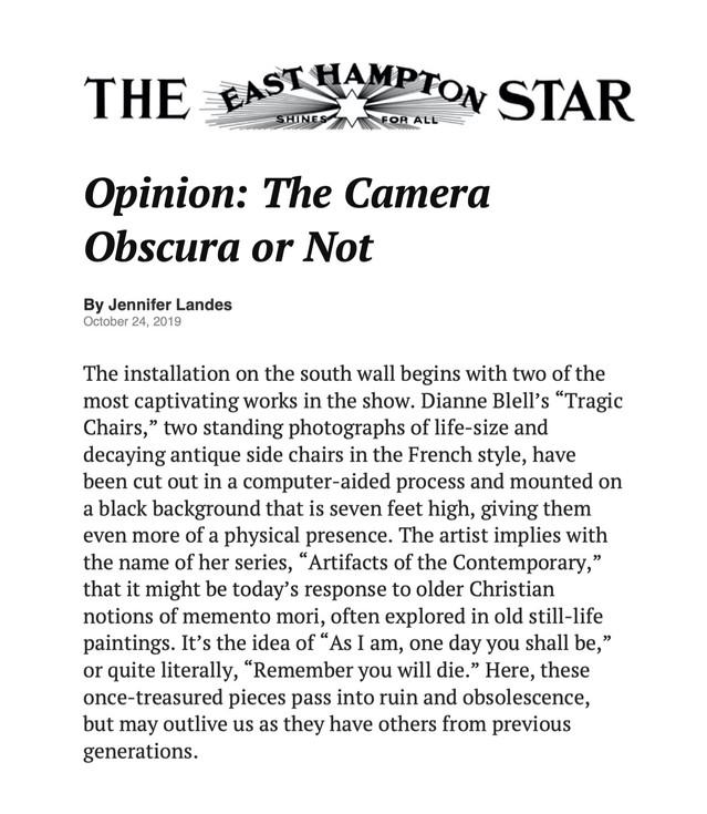 Exhibition Review, East Hampton Star, 2019