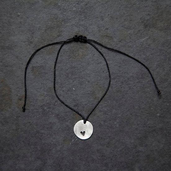 pulseira mini pingente coração