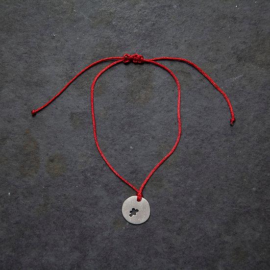 pulseira mini pingente trevo