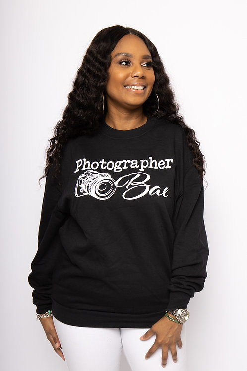 """Photographer BAE"" Unisex Sweatshirt"