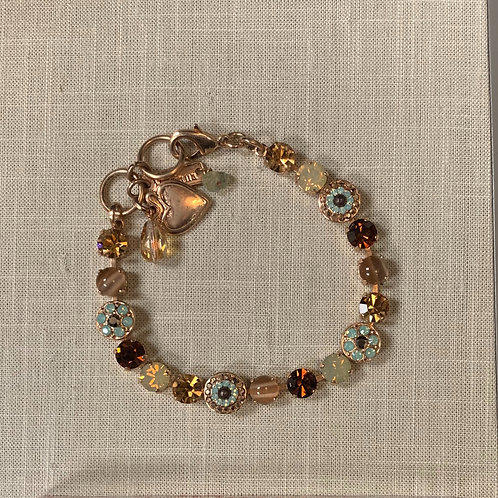 24K Plated Rose Gold Swarovski Crystal Bracelet