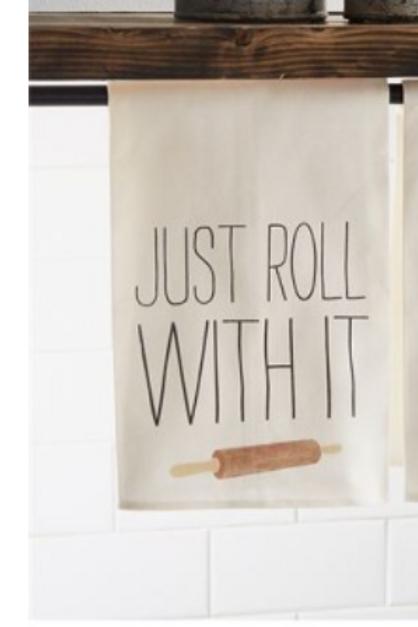 Just Roll With It dishtowel