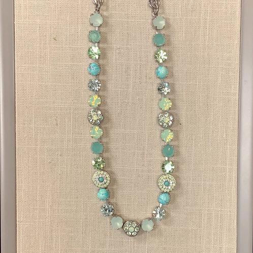 Antiqued Silver Swarovski Precious Stone Necklace
