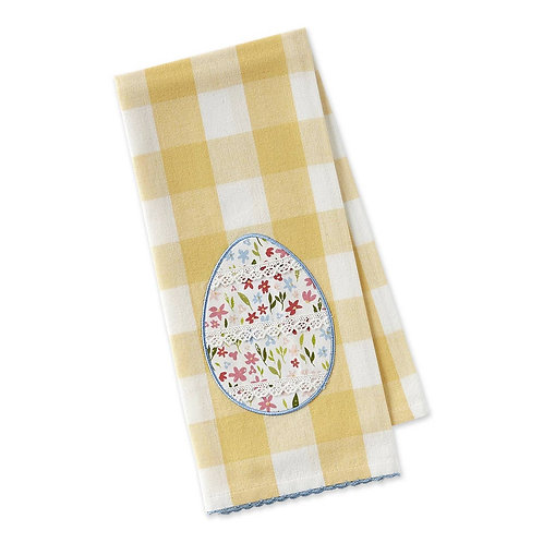 Lace Egg Embellished Dishtowel