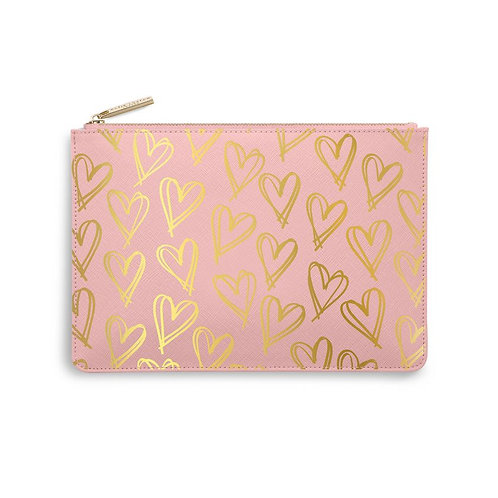 Print Heart Perfect Pouch