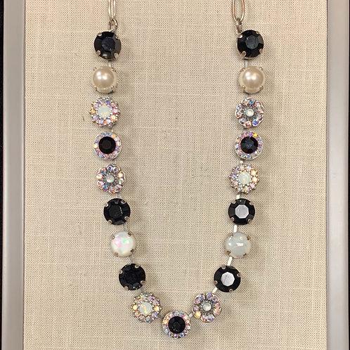 Antiqued Silver Swarovski Mariana Necklace