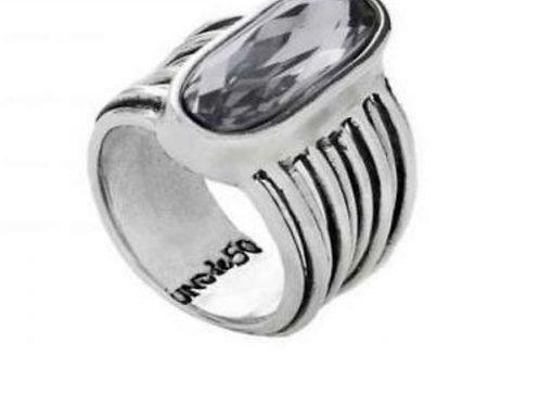 UNOde50 Silver/Swarovski Ring-L7/8