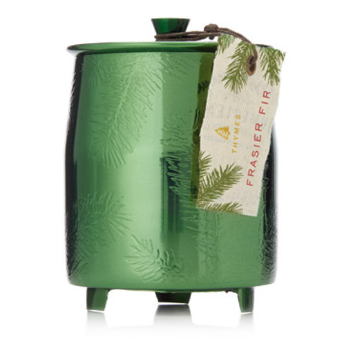 Frasier Fir Medium Green Metal Candle