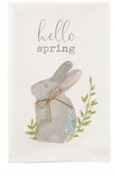 Hello Spring Cotton Dishtowel