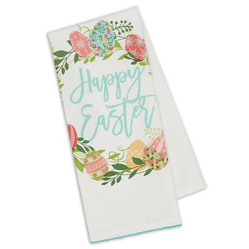 Happy Easter Printed Dishtowel