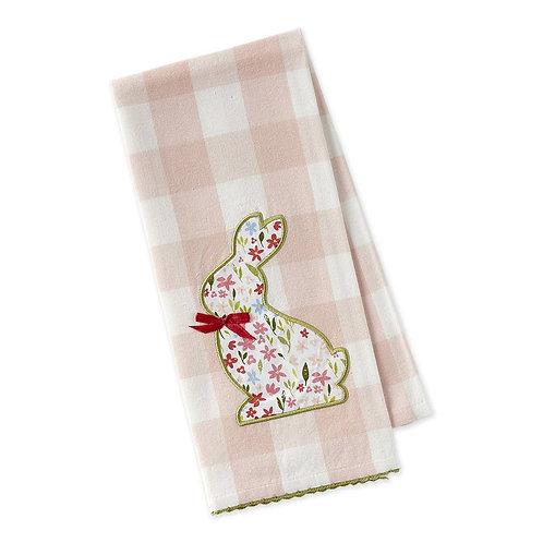 Sweet Bunny Embellished Dishtowel