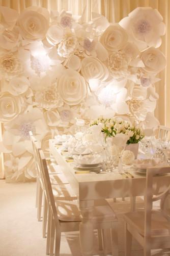 Оформление свадьбы цветами из бумаги