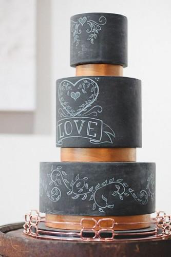 Идеи свадебных тортов с эффектом меловой доски