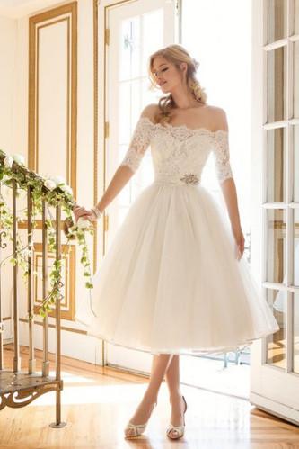 Идеи коротких свадебных платьев