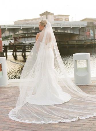 Образ невесты: длинная фата