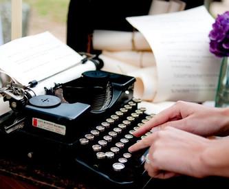 Винтажная печатная машинка – идея для пожеланий гостей