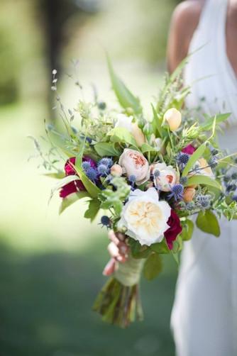 Растрепанные букеты невесты