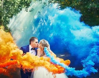 Цветной дым для фотосессии: красочно и оригинально!