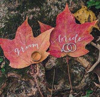 Идеи оформления осенней свадьбы