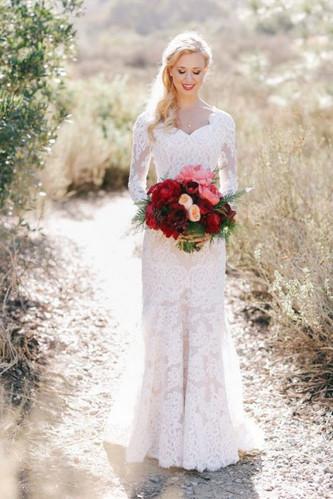 Идеи свадебных платьев с длинными рукавами