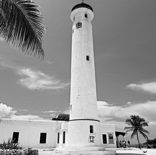 Cozumel Lighthouse - BW.jpg
