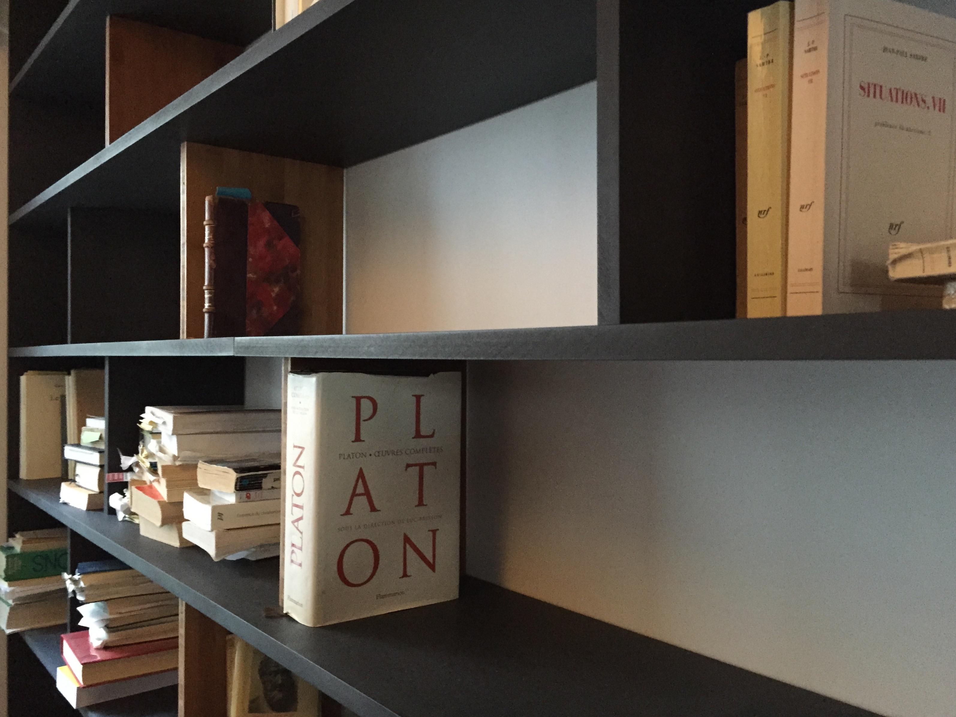 Bibliothèque Bambou & Valchromat