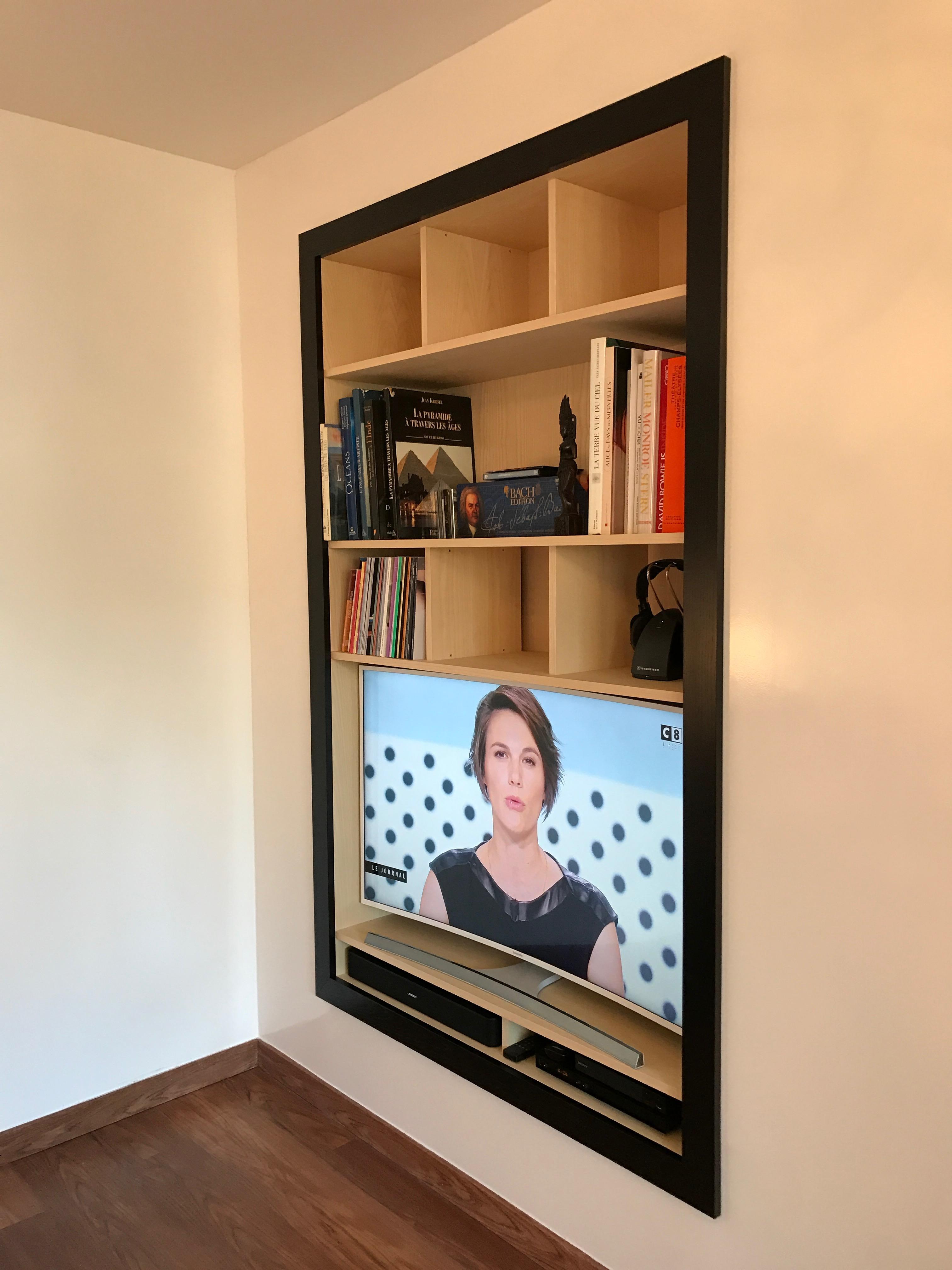Intégration Niche Bibliothèque TV