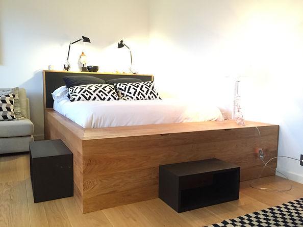 fabrication de meuble sur mesure herv ebniste lit estrade - Lit Estrade
