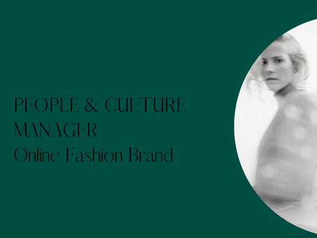 People & Culture Manager - eComm Womens fashion - Sydney