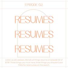 2 // Resumes, Resumes, Resumes!