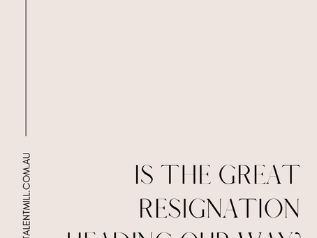 The Great Resignation - should we be worried?