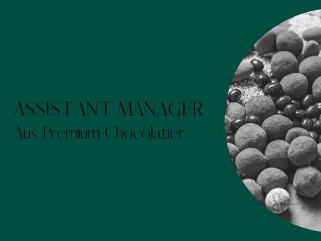 Assistant Manager - Aus Premium Chocolatier - Royal Arcade, Melbourne