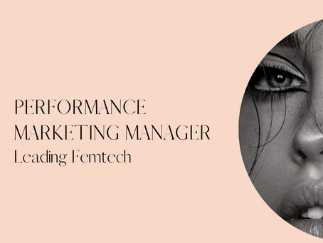 Performance Marketing Manager - Leading Femtech - Sydney CBD