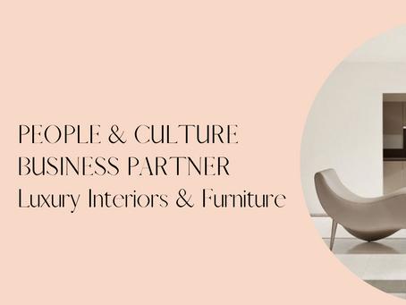 HR Business Partner - Luxury Furniture, Sydney