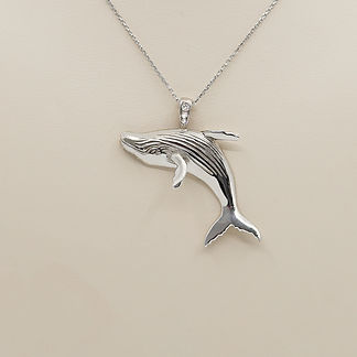 14K-White-Gold-Diamond-Breaching-Swimmin