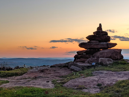 Mountain Summit Rock Cairn