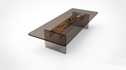 table bronze glass marble flash