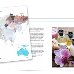 Graphic design of financial annual reports for the chemical industry