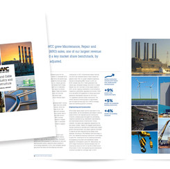 Graphic design of financial annual reports for the manufacturing industry