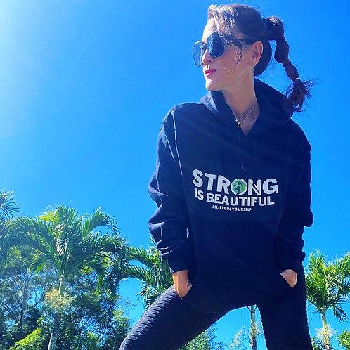 NEW-STRONG IS BEAUTIFUL black hoodie womens