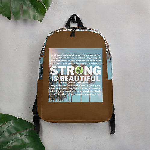 NEW-STRONG IS BEAUTIFUL BEACHY BACKPACK