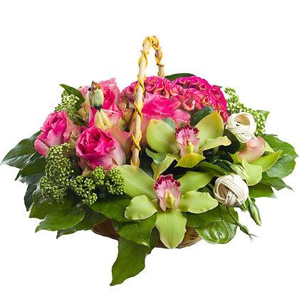 Корзины цветов 10