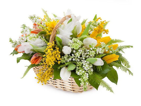 Корзины цветов 17