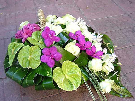 Корзины цветов 24